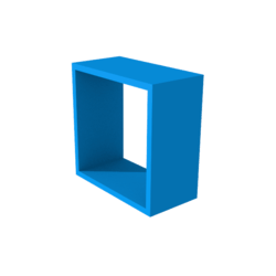 San Block Window Frame - Blue