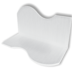 Display For Shop ( H5-W10-D5 ) - White - Collision Mesh