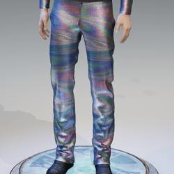 Rainbow Reflective Holographic Pants