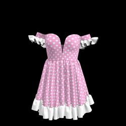 Baby Doll Vintage Polka Dot Dress 04