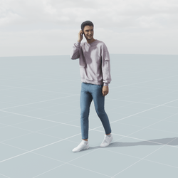 Ivan walking phone 3D scan static model