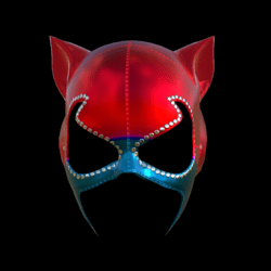 CATWOMAN MASK_ V2  COLORS B_ EMISSIVE_