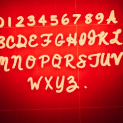 Complete Alphabet Set Font: AlwaysInMyHeart