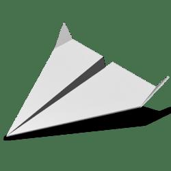 Paper Airplane 02 - White - Collision Mesh