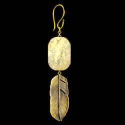 Drop Leaf Earrings Gold