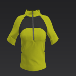 Sports Top Charcoal and Yellow