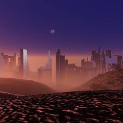 Scenic Alien City