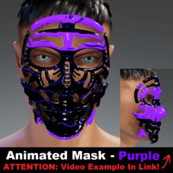 Animated Mask: Purple - Male Avatars
