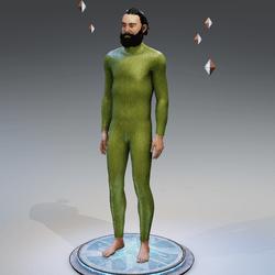 The Future Is Green Woollen Mens Bodysuit