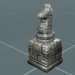 Garden Chess Knight   Sculpted   Decor