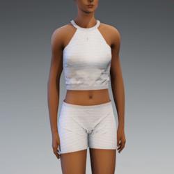 Cleo Short Set - White