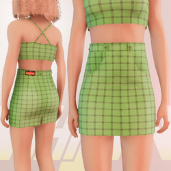 Green Iconic Skirt