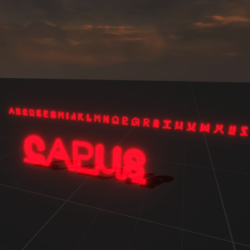Red Neon Letters Alphabet
