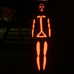 Red Emissive Rigged Stick Woman Avatar
