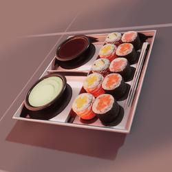 Sushi set (extreem high poly)