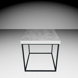 Delano Side-table - Concrete gray/Black