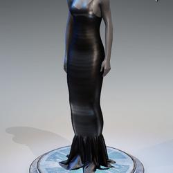 Pentagram Evening Gown [Grey]