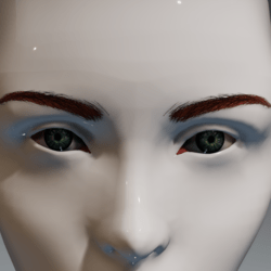 Eyes (green) and brows (red) for the Irene Head by Apocalypse Bunnies