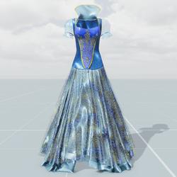 Queen's Dress(Blue Gold)