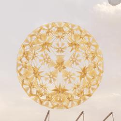 Golden flower spheric