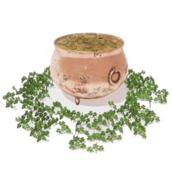 Cauldron with Clover