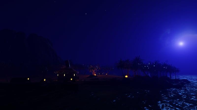 The Beach (at night)