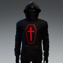 Unisex Coffin Cross Hoodie [Red]