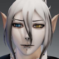 XRezo head piercing b/y eyes