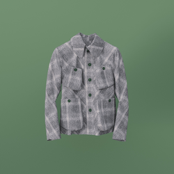 Atacac Studio Jacket Grey Hairy Checked