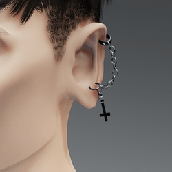 Male Gothic Earring Left Ear