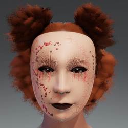 Halloween Female Mask