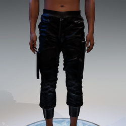 Cargo Pants for male in wet black camouflage