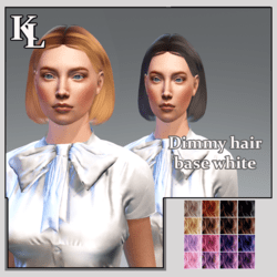Dimmy hair -base white