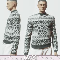 sweater gray-white