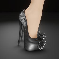 Spiked toe heels