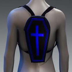 Metallic Coffin Cross Backpack [Blue]