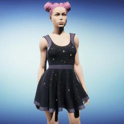 Animated Skater Dress