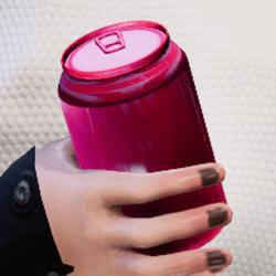 Bottle pink in arm
