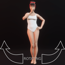 model pose 08 rotating
