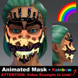 Animated Mask: Rainbow - Female Avatars