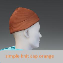 simple knit cap orange