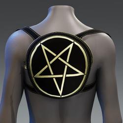 Metallic Pentagram Backpack [Yellow]