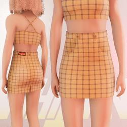 Yellow Iconic Skirt