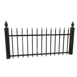 Wrought Iron Fence - Full Section