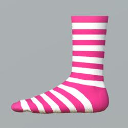 Striped Girl Socks white-pink