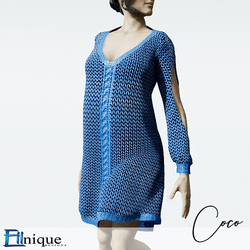 Coco Blue Sweater dress cutout arms