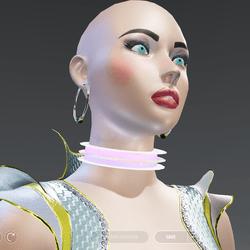 Futuristic Glow-Animated Collar - Female