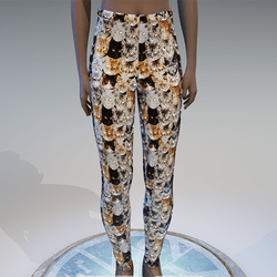 Emissive cat eyes leggings