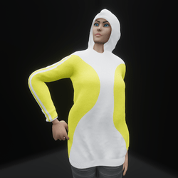 Hoodie Dress Yellow (TM)