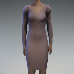 Long sleeve grey dress